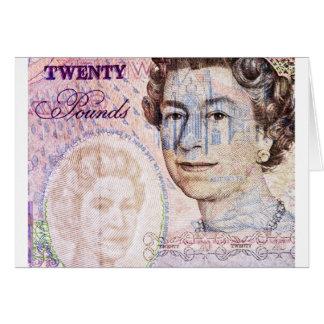 Twenty Pounds Stationery Note Card