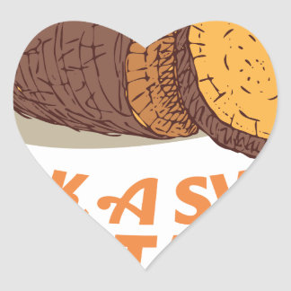 Twenty-second February - Cook a Sweet Potato Day Heart Sticker