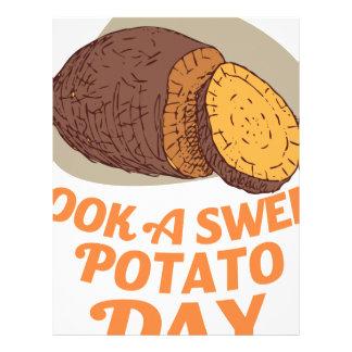 Twenty-second February - Cook a Sweet Potato Day Letterhead