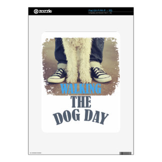 Twenty-second February - Walking the Dog Day Decal For iPad