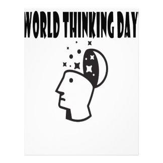 Twenty-second February - World Thinking Day Letterhead