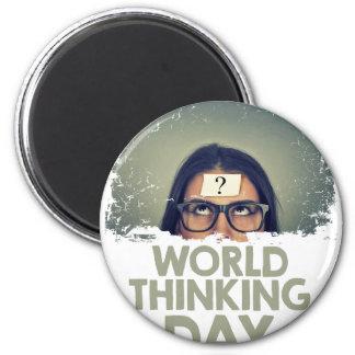 Twenty-second February - World Thinking Day Magnet