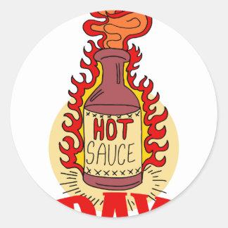 Twenty-second January - Hot Sauce Day Classic Round Sticker