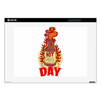 """Twenty-second January - Hot Sauce Day Decals For 15"""" Laptops"""