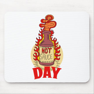 Twenty-second January - Hot Sauce Day Mouse Pad