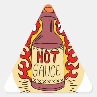 Twenty-second January - Hot Sauce Day Triangle Sticker