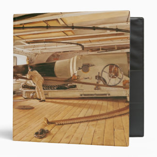 Twenty-Seven Pound Cannon on a Battleship 3 Ring Binder