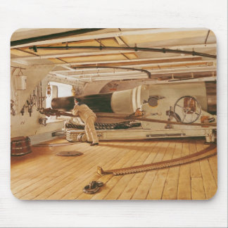Twenty-Seven Pound Cannon on a Battleship Mouse Pad