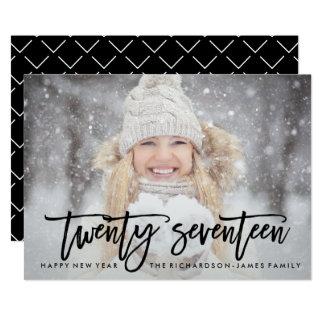 Twenty Seventeen | Trendy Typography with Photo Card