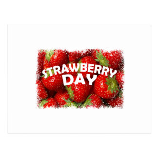 Twenty-seventh February - Strawberry Day Postcard