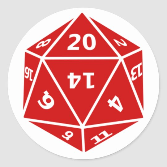Twenty Sider Classic Round Sticker
