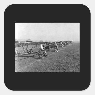 Twenty-six aeroplanes in line for_War image Square Sticker