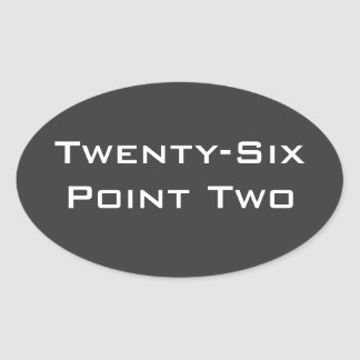 Twenty-Six Point Two (26.2) Marathon Oval Sticker