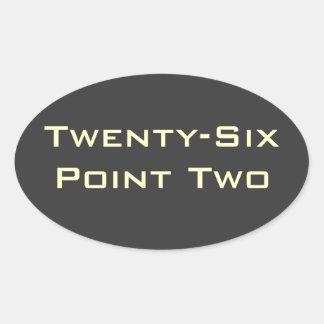Twenty-Six Point Two (26.2) Marathon Sticker