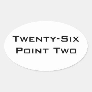 Twenty-Six Point Two (26.2) Marathon Sticker Oval