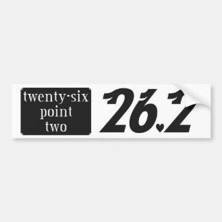 twenty-six point two car bumper sticker