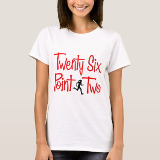 Twenty Six Point Two, hers, red T-Shirt