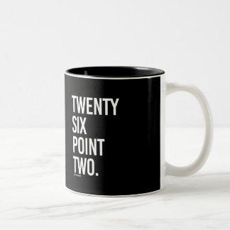 Twenty Six Point Two -   Running Fitness -.png Two-Tone Coffee Mug