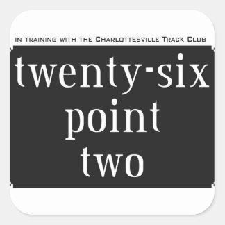 twenty-six point two square sticker