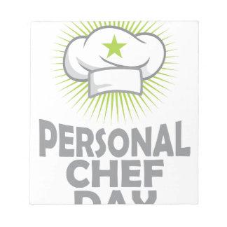 Twenty-sixth February - Personal Chef Day Notepad
