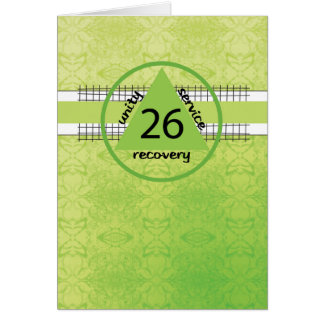 Twenty-Sixth Year Peace Happiness 12 Step Recovery Card