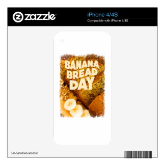 Twenty-third February - Banana Bread Day Decal For The iPhone 4S