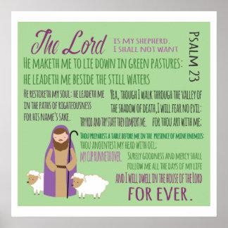 Twenty Third Psalm Poster
