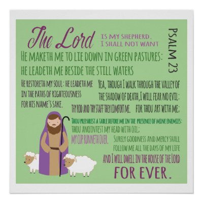 23rd Psalm Poster | Zazzle com