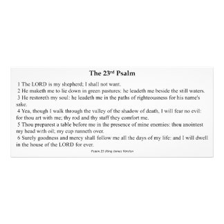 Twenty Third Psalm Prayer Card