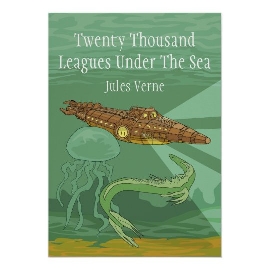Twenty Thousand Leagues Under The Sea- Jules Verne Poster