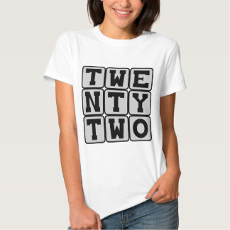 Twenty Two, Number 22 T-Shirt