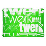 Twerk; Neon Green Stripes iPad Mini Cases