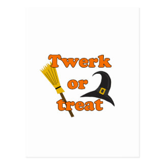 Twerk or treat - Halloween funny design Postcard