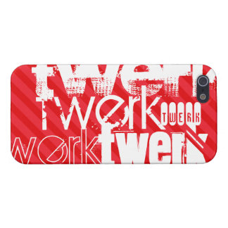 Twerk; Scarlet Red Stripes iPhone 5/5S Covers