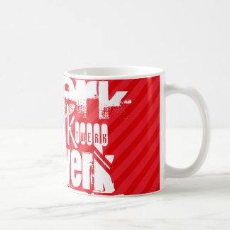 Twerk; Scarlet Red Stripes Classic White Coffee Mug