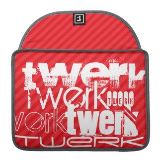 Twerk; Scarlet Red Stripes Sleeve For MacBook Pro