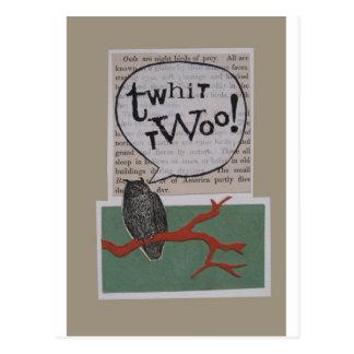 twhit-twoo postcard