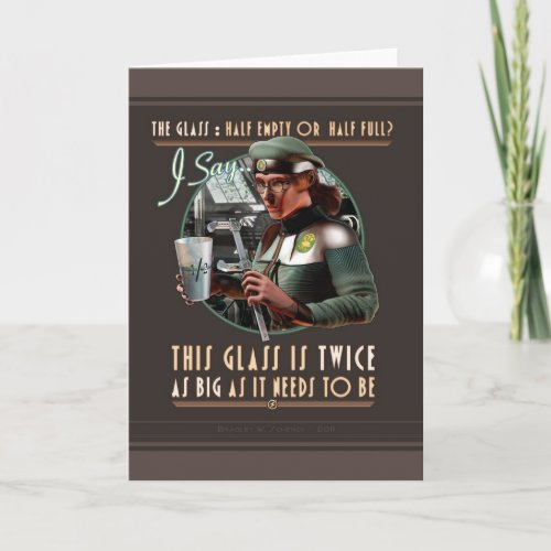 Twice as Big as it Needs to Be Card