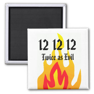 Twice as Evil 2 Inch Square Magnet