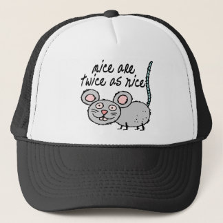 Twice As Nice Mice Trucker Hat