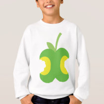 Twice bitten green apple fruit sweatshirt