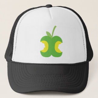 Twice bitten green apple fruit trucker hat