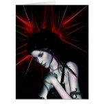 Twice Broken Fantasy Gothic Girls Vampire Pinup Large Greeting Card