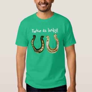 Twice s lucky Irish St. Patrick day Tee Shirt
