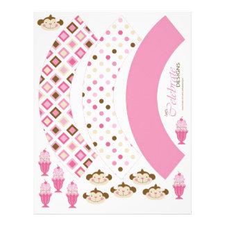 "Twice the Fun GIRLS Cupcake Wrappers 2 8.5"" X 11"" Flyer"
