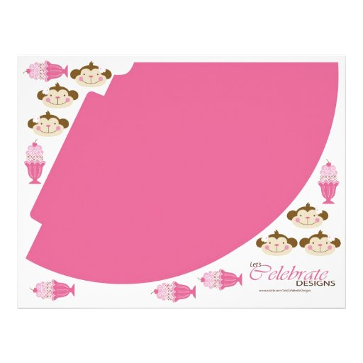 """Twice the Fun GIRLS Party Hat 4 8.5"""" X 11"""" Flyer"""