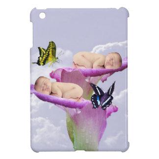 Twice the joy with baby twins shower invitation iPad mini cover