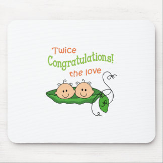 TWICE THE LOVE MOUSE PAD
