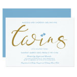 Twice The Love Twin Boys Baby Shower Invitation