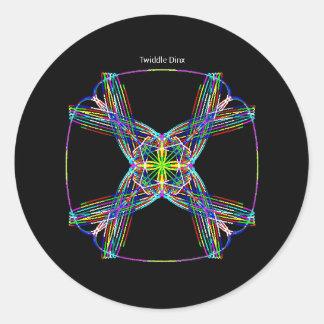 "Twiddle #100 - 1.5"" Round Stickers - 20 per sheet"